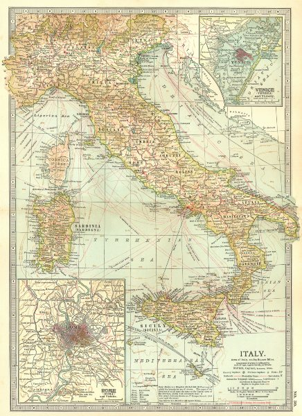 Associate Product ITALY. Rome Venice.Shows key naval battles/dates 1811 1866 1676 241BC 1903 map