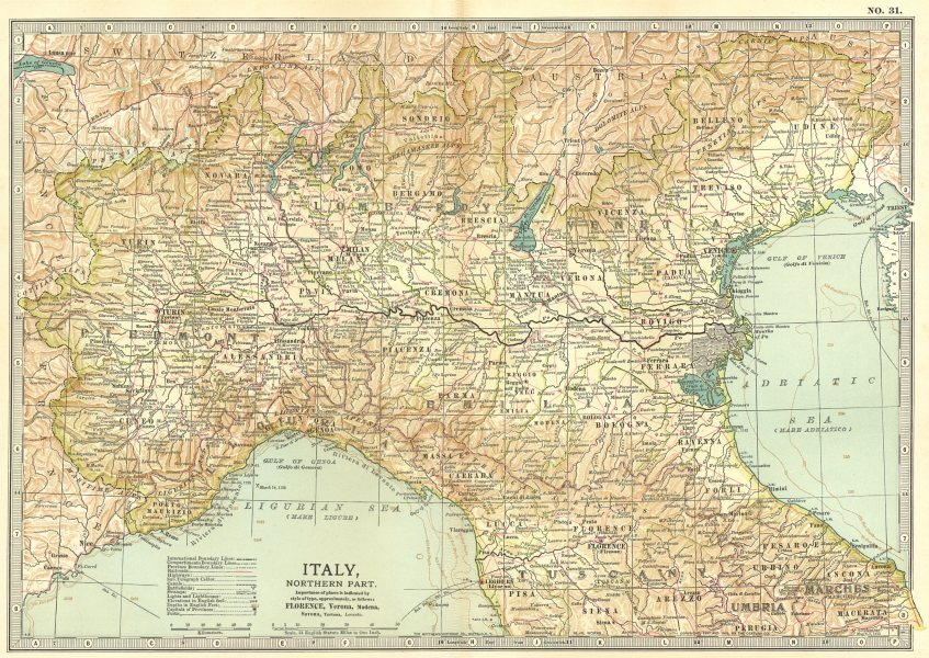 Associate Product ITALY NORTH. Italian Independence/Napoleonic wars etc battlefields 1903 map