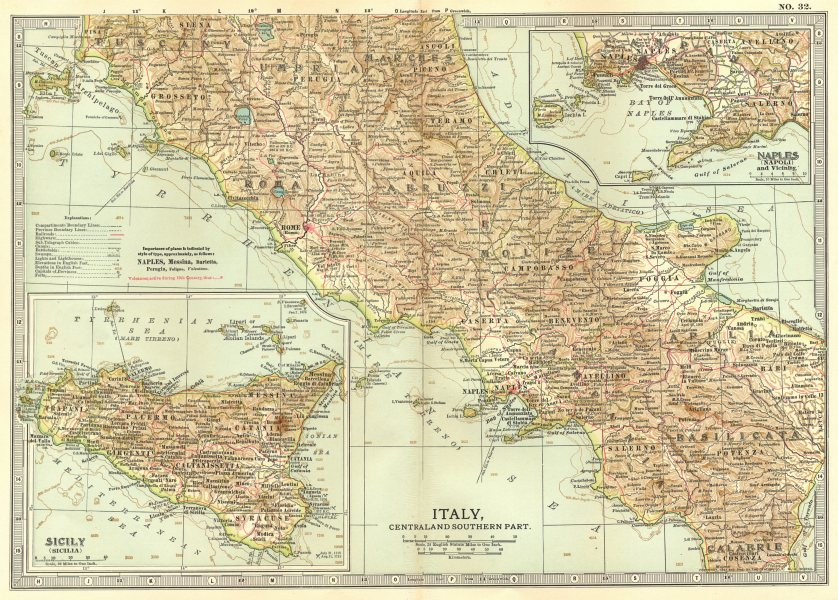 Associate Product ITALY.Showing 1000 Expedition/Guelphs Ghibellines &c battlefields 1903 old map