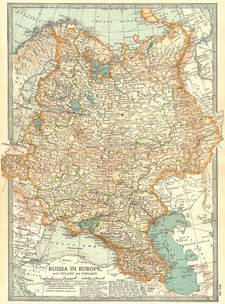 Associate Product RUSSIA. In Europe with Poland & Finland; Caucasus, Georgia, Ukraine 1903 map