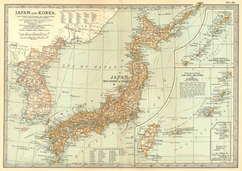 Associate Product JAPAN KOREA. Sino-Japanese war 1894 Shimonoseki 1863/4 battles/dates 1903 map