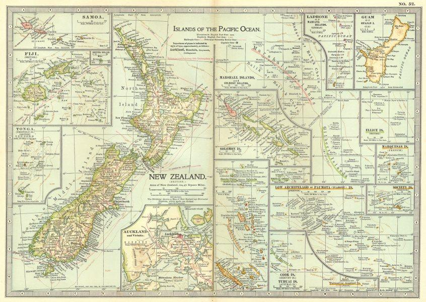 Associate Product NEW ZEALAND. Fiji Guam Polynesia Samoa Polynesia Solomons; Auckland 1903 map