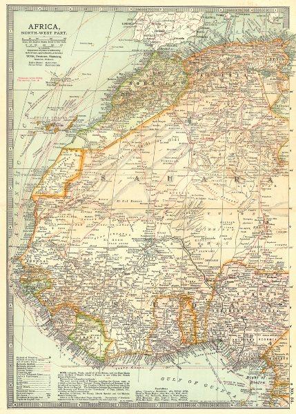 Associate Product WEST AFRICA. Algeria Morocco Nigeria Senegal Togo Gold Coast Ghana 1903 map