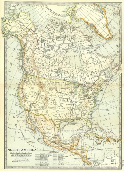 Associate Product USA CANADA MEXICO. Explorers routes.Cabot Cortes Baffin Hudson Drake+ 1903 map