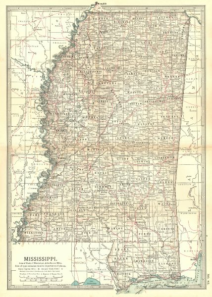 Associate Product MISSISSIPPI. State. Civil war battlefields/dates.Choctaw treaty lines 1903 map