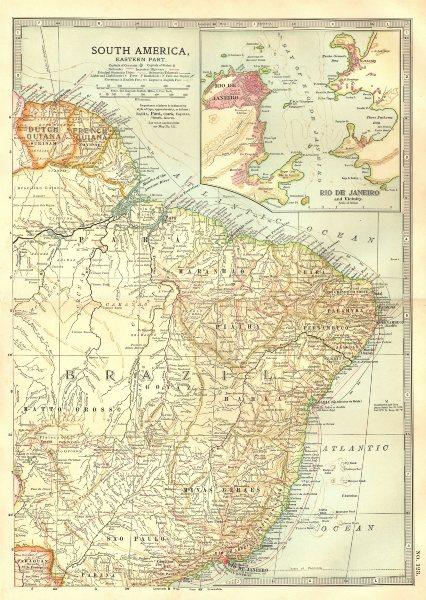 "Associate Product BRAZIL.Shows""Proposed Federal District"" (now Brasilia);Rio de Janeiro 1903 map"