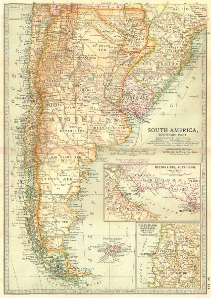 Associate Product ARGENTINA PARAGUAY URUGUAY CHILE BRAZIL. Shows battles/dates.La Plata 1903 map