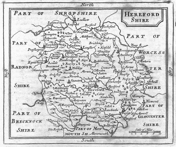 Associate Product HEREFORD. Herefordshire. Grose Seller 1795 old antique vintage map plan chart