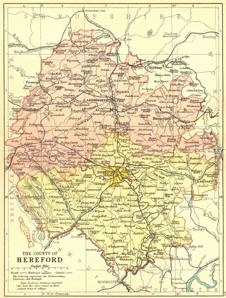 Associate Product HEREFORD. Philip 1898 old antique vintage map plan chart