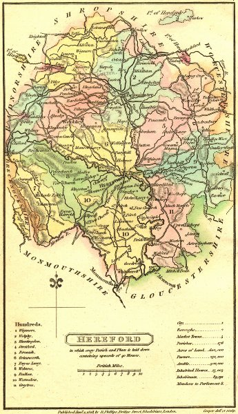 Associate Product HEREFORD. Capper. Scarce 1813 old antique vintage map plan chart
