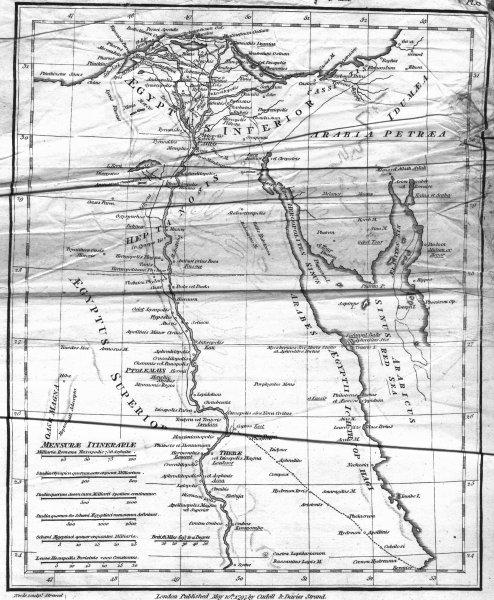 Associate Product EGYPT. Aegyptus Antiqua. Classical. ADAM 1816 old antique map plan chart