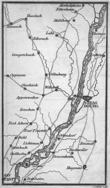 Associate Product FRANCE. Coghlan. Route map 1837 old antique vintage plan chart