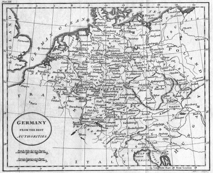 Associate Product GERMANY. Baker 1810 old antique vintage map plan chart