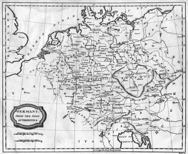 Associate Product GERMANY. Blomfield 1807 old antique vintage map plan chart