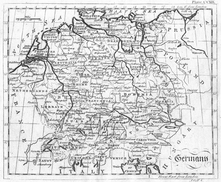 Associate Product GERMANY. Bell 1798 old antique vintage map plan chart