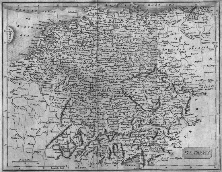 Associate Product GERMANY. Evans Cundee  1811 old antique vintage map plan chart