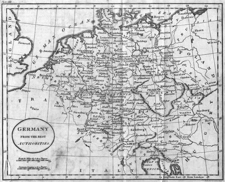 Associate Product GERMANY. Guthrie OVAL TILE 1796 old antique vintage map plan chart