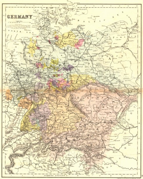 Associate Product GERMANY. Mackenzie 1868 old antique vintage map plan chart