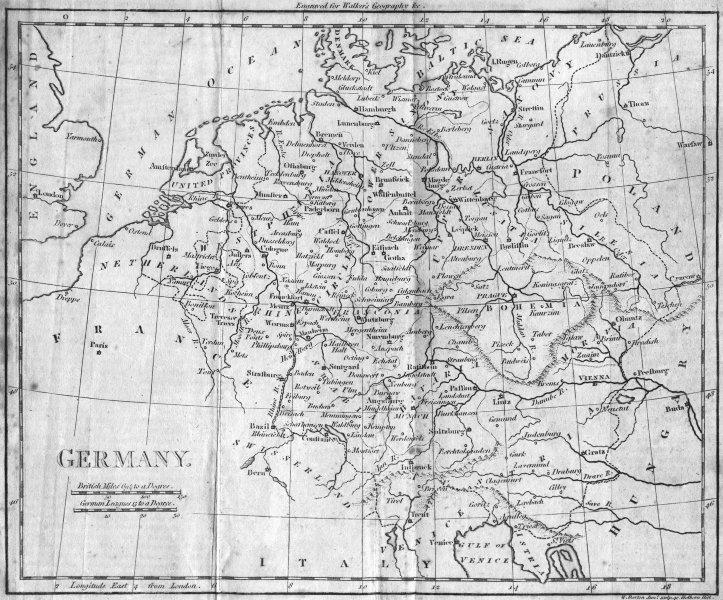 Associate Product GERMANY. Walker  1807 old antique vintage map plan chart
