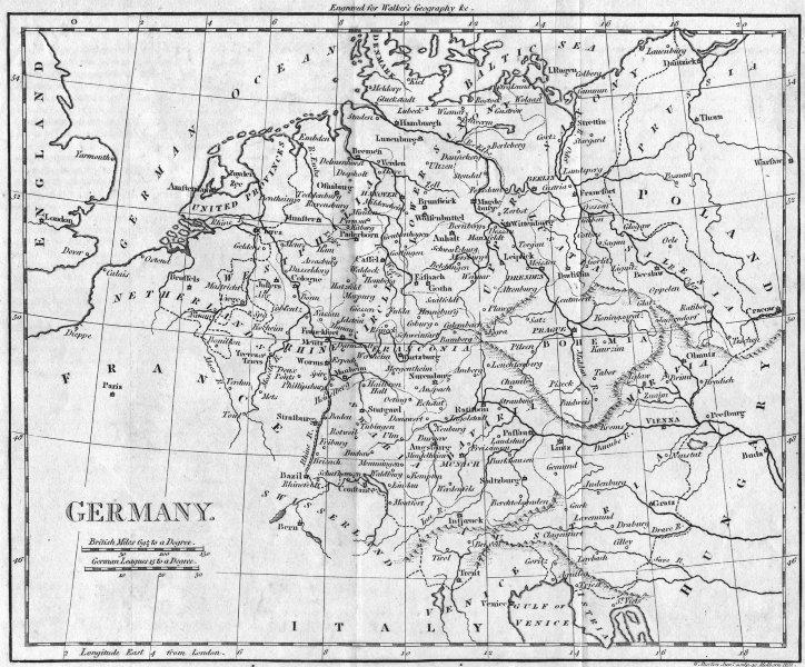 Associate Product GERMANY. Walker 1805 old antique vintage map plan chart