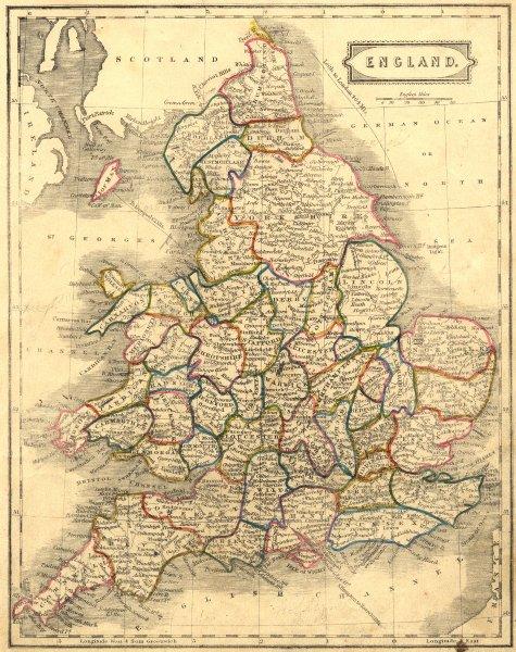 Associate Product ENGLAND. BLAIR 1860 old antique vintage map plan chart