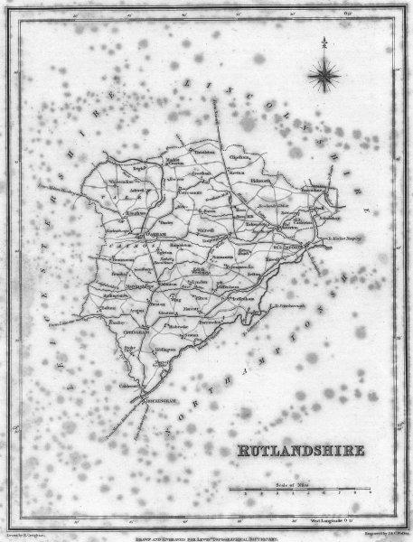 Associate Product RUTLAND. Rutlandshire. Lewis 1831 old antique vintage map plan chart