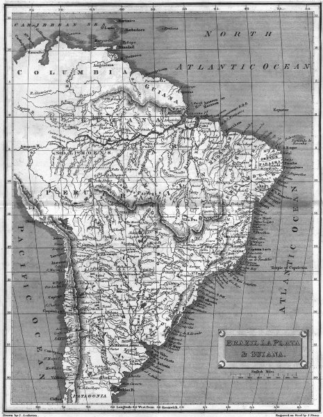 Associate Product BRAZIL. La Plata & Guyana. Tegg 1827 1827 old antique vintage map plan chart