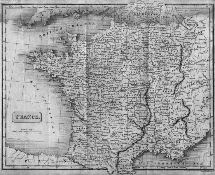 Associate Product FRANCE. Evans Scundee  1811 old antique vintage map plan chart