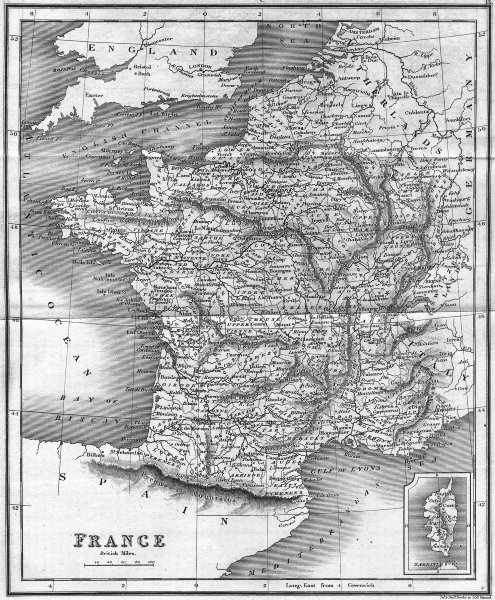 Associate Product FRANCE. Mawman  1827 old antique vintage map plan chart