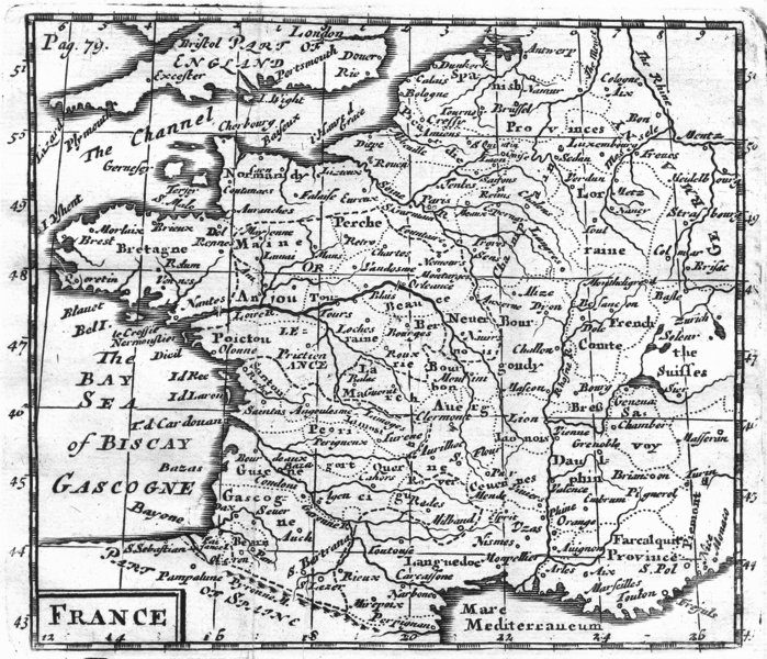 Associate Product FRANCE. MORDEN scarce 1716 old antique vintage map plan chart