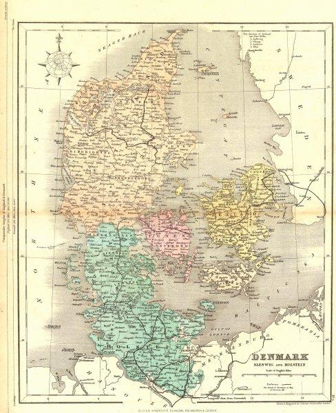 Associate Product DENMARK. Sleswig & Holsetin. Mackenzie 1868 old antique vintage map plan chart