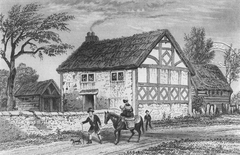 Associate Product SALVINGTON. Birthplace of Seldon. Sussex. DUGDALE.  1835 old antique print