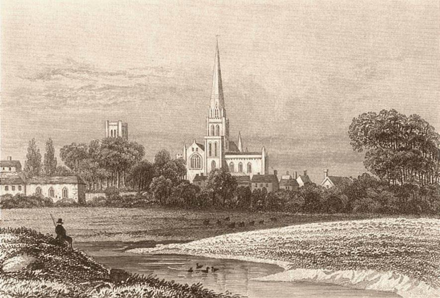 Associate Product CHICHESTER. Attractive town view. Sussex. DUGDALE c1840 old antique print
