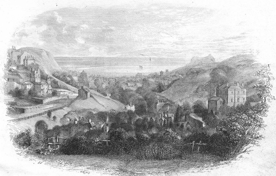 SUSSEX. Hastings. Newman 1860 old antique vintage print picture
