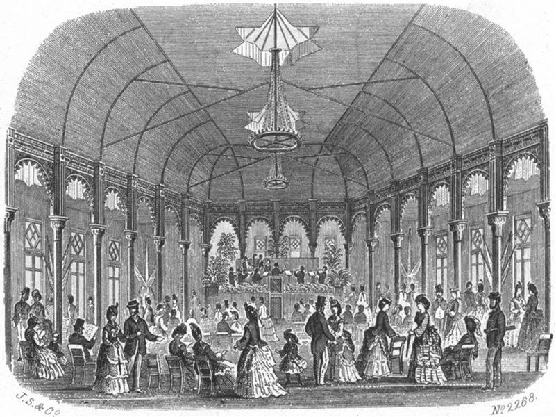 Associate Product HASTINGS. Pavilion, & St Leonards Pier. Kershaw 1860 old antique print picture