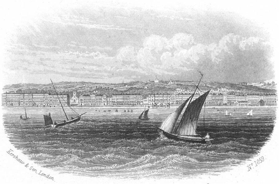 Associate Product SUSSEX. St Leonards sea. Kershaw 1860 old antique vintage print picture