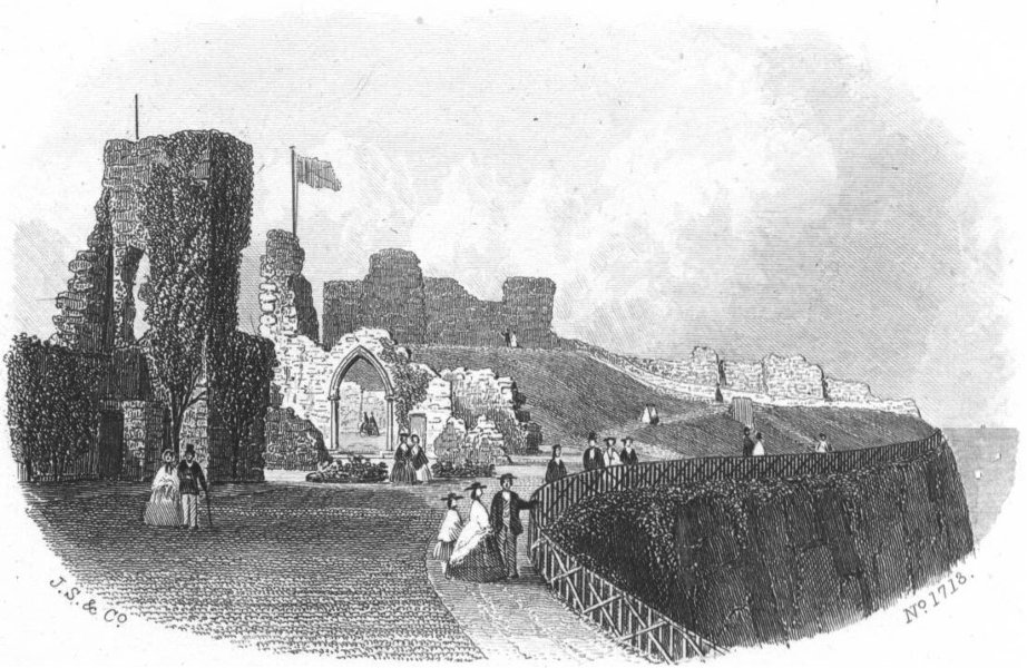 Associate Product SUSSEX. Hastings Castle. Kershaw 1860 old antique vintage print picture