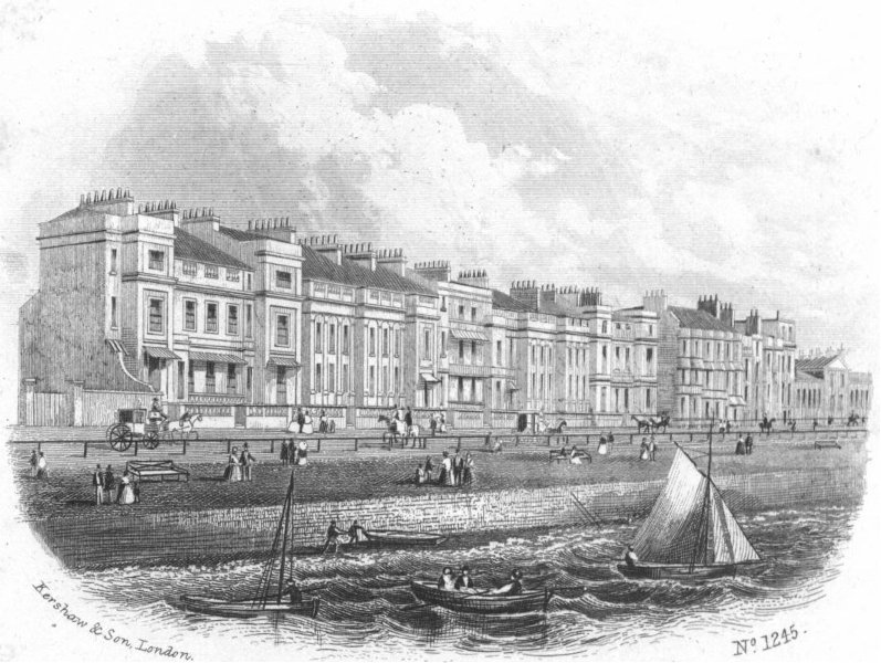 Associate Product SUSSEX. White Rock place, Hastings. Kershaw 1860 old antique print picture