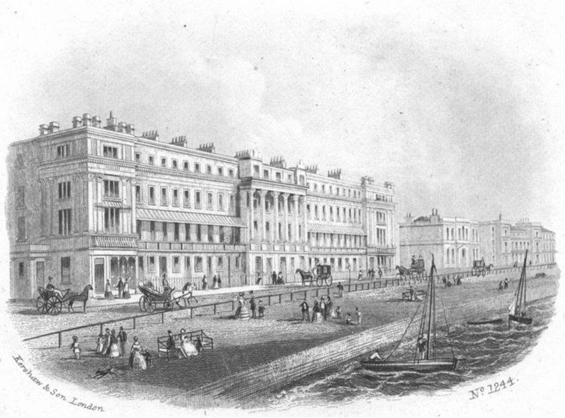 Associate Product SUSSEX. Verulam place, St Leonards-on-Sea. Kershaw 1860 old antique print