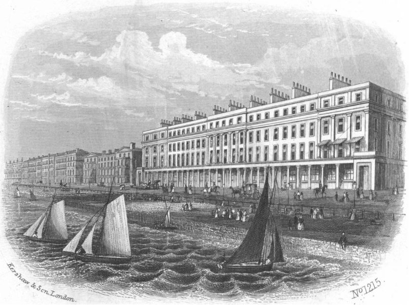 Associate Product SUSSEX. Marina, St Leonards. Kershaw 1860 old antique vintage print picture