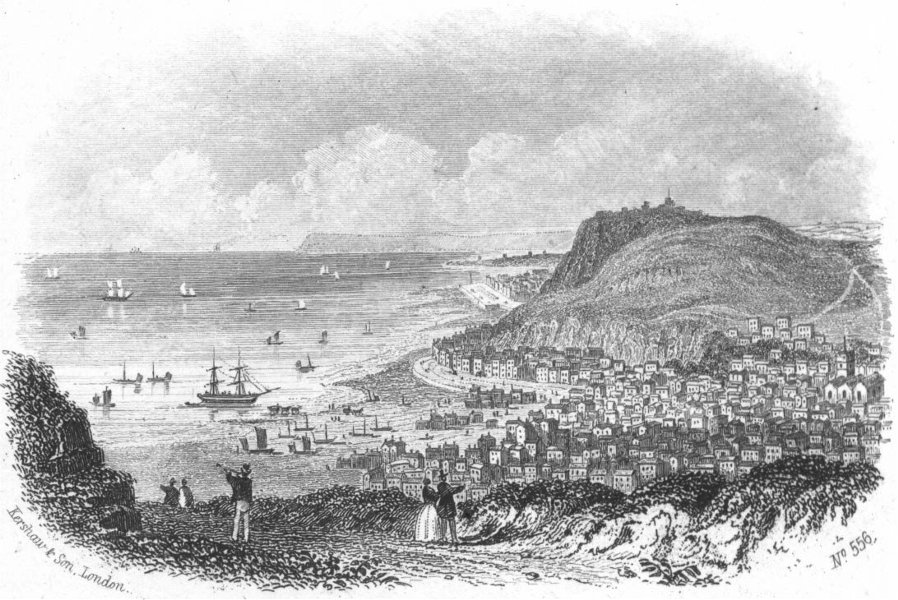 Associate Product SUSSEX. Hastings from east Hill. Kershaw 1860 old antique print picture