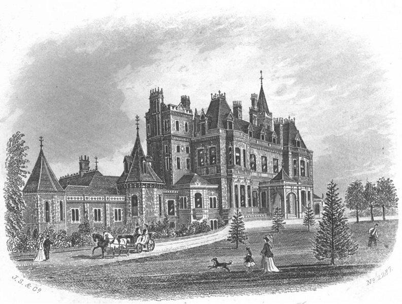 Associate Product NORMANHURST. Ct, Near Battle(Thomas Brassey, MP) 1860 old antique print