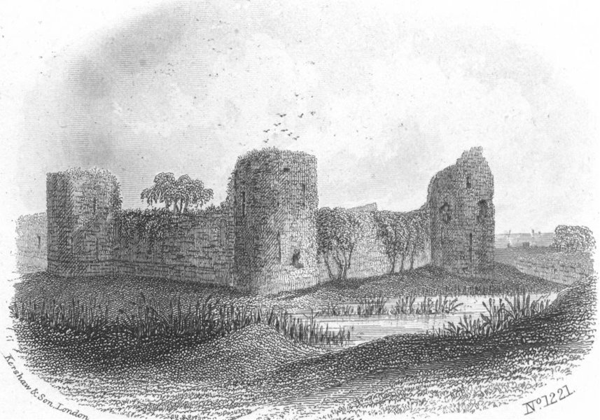 Associate Product SUSSEX. Pevensey Castle, Eastbourne. Kershaw 1860 old antique print picture