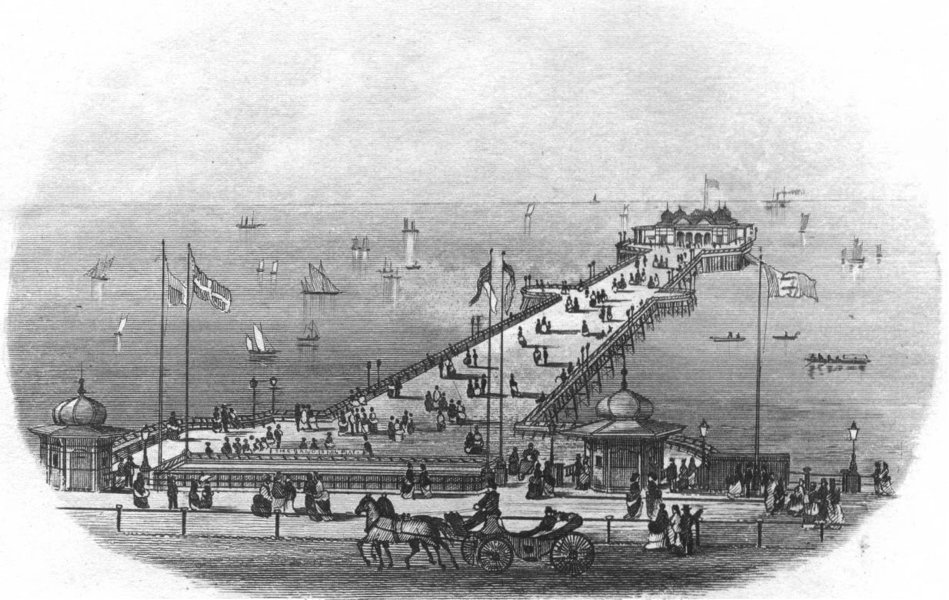 Associate Product SUSSEX. Hastings Pier. Newman 1860 old antique vintage print picture