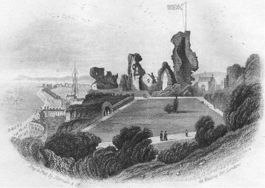 Associate Product SUSSEX. Hastings Castle. Newman 1860 old antique vintage print picture