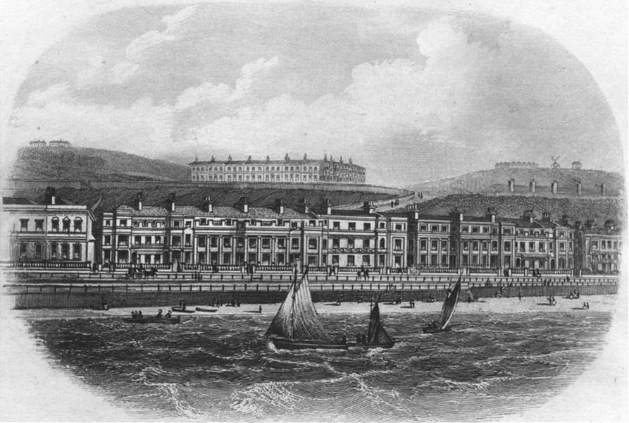 Associate Product SUSSEX. White Rock place, Hastings. Newman 1860 old antique print picture