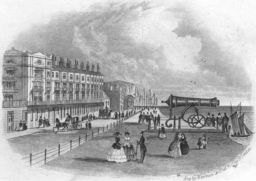 Associate Product SUSSEX. Pelham Place, Hastings. Newman 1860 old antique vintage print picture