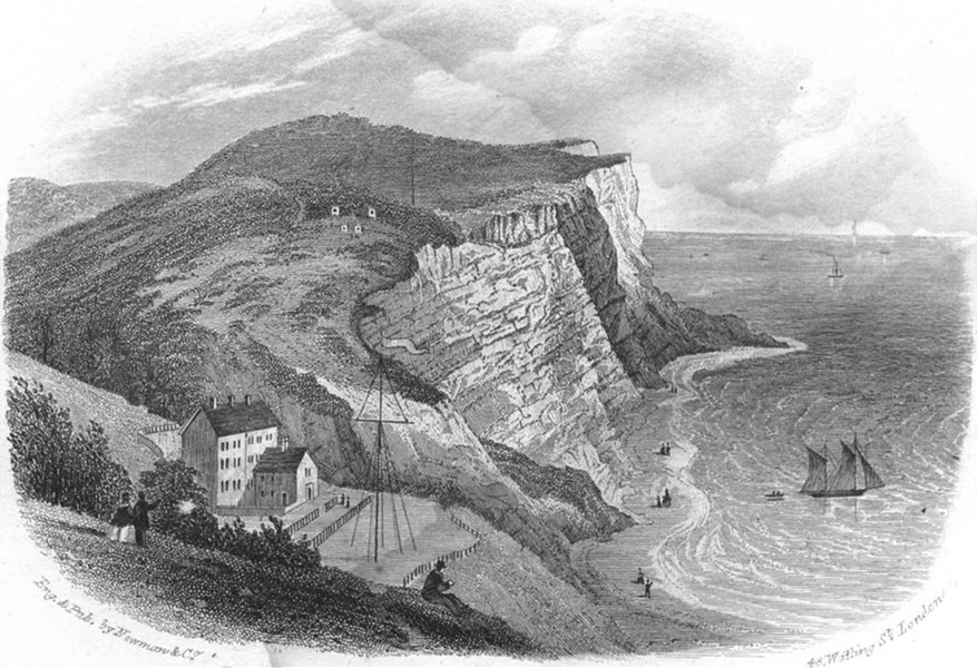 Associate Product SUSSEX. Ecclesbourne Valley, Hastings. Newman 1860 old antique print picture