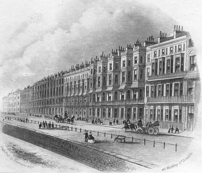 Associate Product SUSSEX. Eversfield place. Newman 1860 old antique vintage print picture