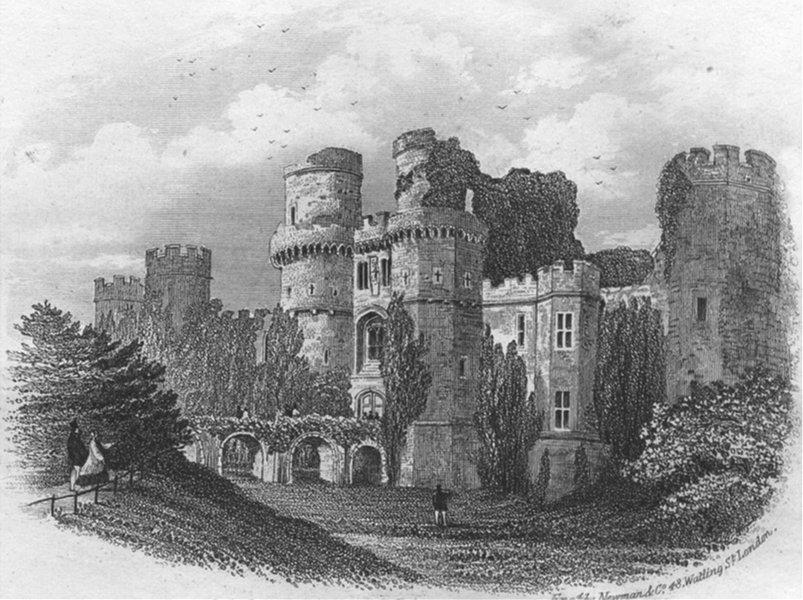 Associate Product SUSSEX. Hurstmonceux Castle. Newman 1860 old antique vintage print picture